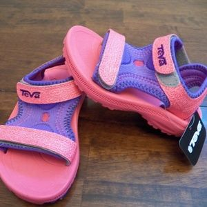 New Kids Teva Psyclone 3 Pink Purple Sandals